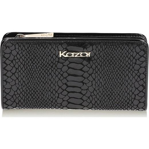 95844bf53a488 Czarny portfel damski Kazar kazar.com