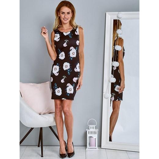 33da122086 Ołówkowa sukienka koktajlowa w kwiaty czarna Papilion Papilion.pl w ...