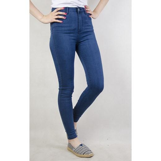 e808ce9d3c714c Niebieskie spodnie skinny jeans z wysokim stanem granatowy M olika.com.pl  ...