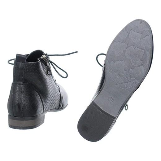 522c1beca2d09 ... Botki ażurowe czarne szary Family Shoes 40 ...