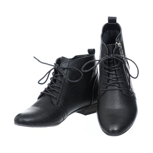 c6375fa7576b6 ... Botki ażurowe czarne Family Shoes czarny 39 ...