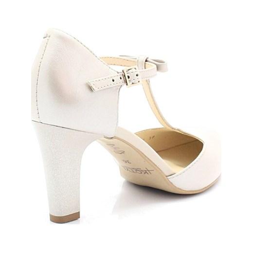 874e08dc8d1e8 KOTYL 889 PERŁA LICO - Piękne buty taneczne ze skóry bialy Kotyl 36  promocyjna cena Tymoteo ...