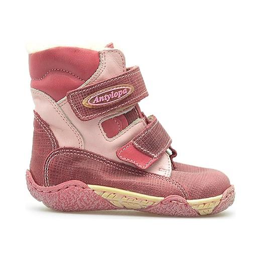 dfc892a2444d8 ... Kozaczki dziecięce Antylopa 264/2 Rożowe Antylopa brazowy Arturo-obuwie  promocyjna cena ...