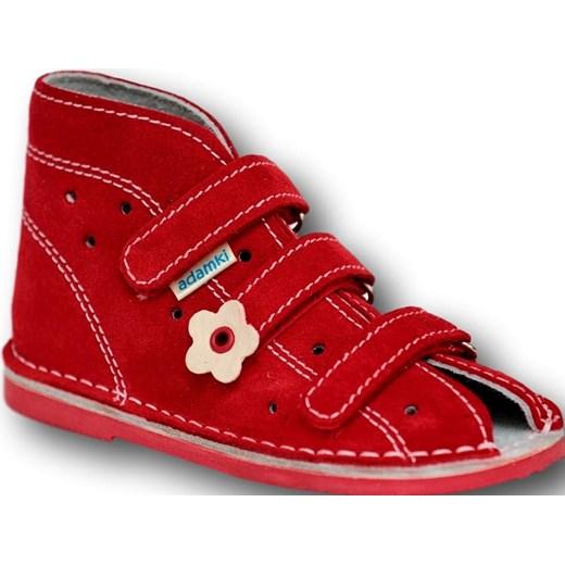 78ff2fdb Adamki profilaktyczne buty wzór 013NK kolor czerwony Adamki 23 tomcio.pl