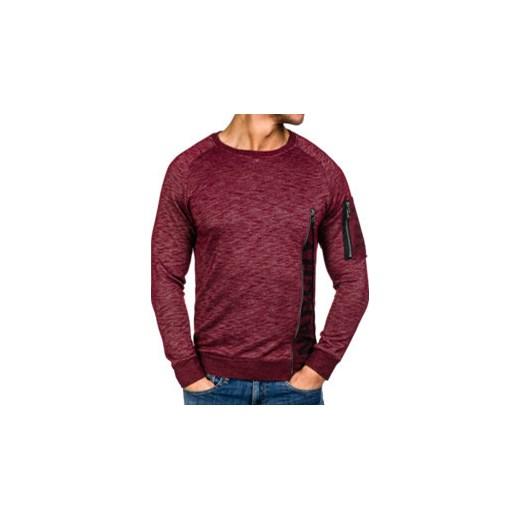 bluza młodzieżowa męska częściowo rozpinana bez kaptura