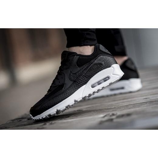 new style a0a35 95a86 Buty Męskie Sneakersy Nike Air Max 90 Premium 700155 008 czarny Nike 45  promocja sneakerstudio.