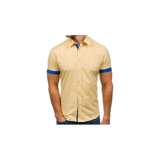 714968786f2d Koszula męska BOLF 6521 żółta Denley.pl w Domodi