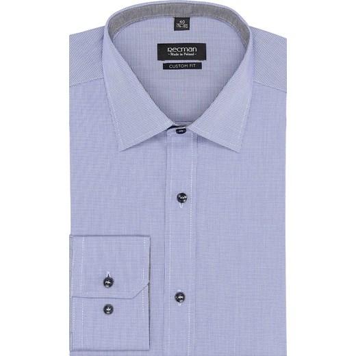 2bf303797 koszula bexley 2456 długi rękaw custom fit niebieski Recman 44/164-170 ...