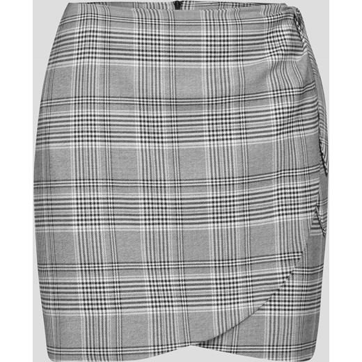 Kopertowa mini spódniczka w kratę ORSAY Spódnice damskie