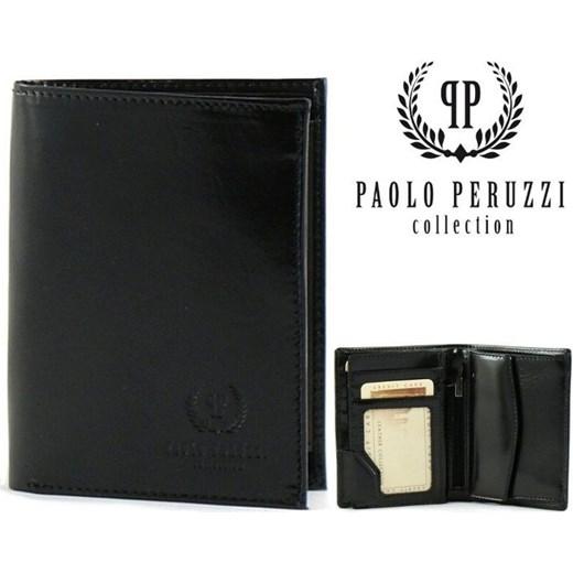 f4d6f1734cc24 Ekskluzywny portfel męski Paolo Peruzzi czarny Paolo Peruzzi One Size  merg.pl ...