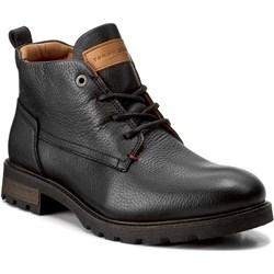 28cc2647086a5 Czarne buty zimowe męskie tommy hilfiger sznurówki