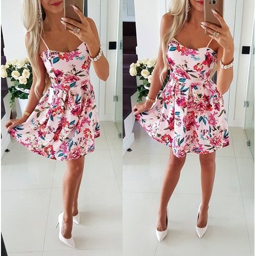 574d6bdbde Piękna Sukienka Kwiaty ITALY FASHION Iwette Butik w Domodi