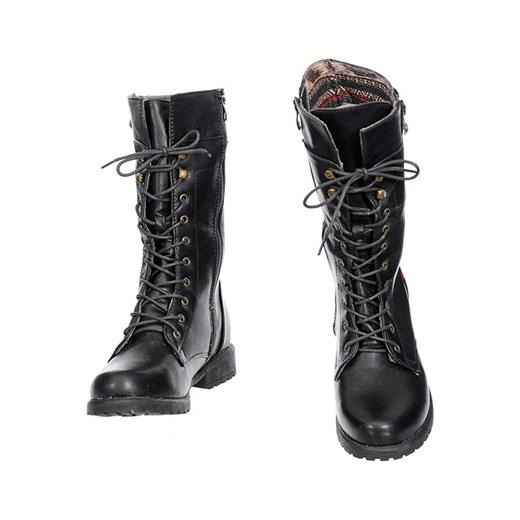 4ee2a49e21d0 MILITARNE WORKERY BOTKI DAMSKIE szary Family Shoes promocyjna cena w ...