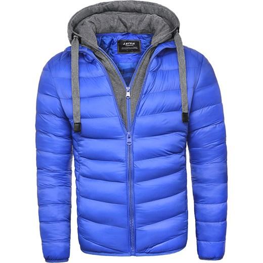 390fdd8dffe61 ... Męska kurtka zimowa JS514 - niebieska Risardi XXXL ...