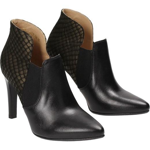 09960bdb3594d ... Czarno-zielone botki damskie WOJTOWICZ Wojtowicz czarny 38 Wojtowicz  Awangarda Shoes ...