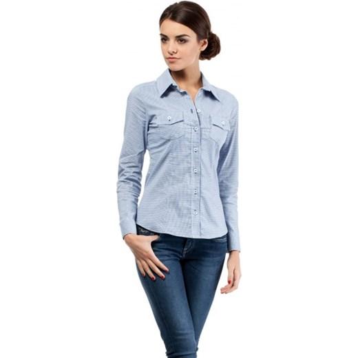 Taliowana koszula Niebieski