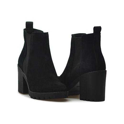 98c73761 Botki Ryłko 7GY03AV_46F Czarne zamszowe Arturo-obuwie w Domodi