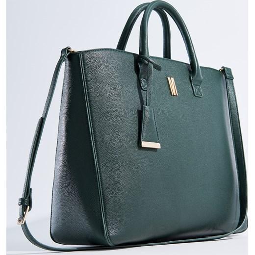 234c89992c9cb ... Mohito - Duża torebka typu city bag z odpinanym paskiem - Zielony szary  Mohito One Size