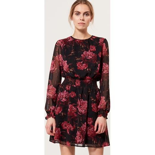 95a153c55d Mohito - Szyfonowa sukienka w kwiaty - Wielobarwn czerwony Mohito 42 ...