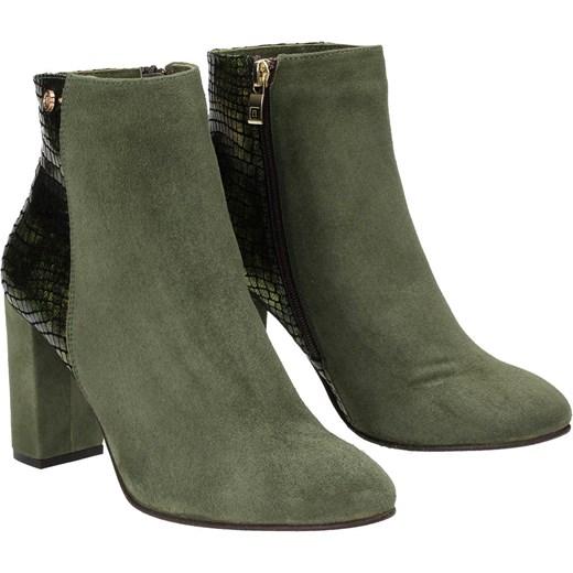 569ccac951443 ... Zielone botki damskie NESSI Nessi szary 40 Wojtowicz Awangarda Shoes ...