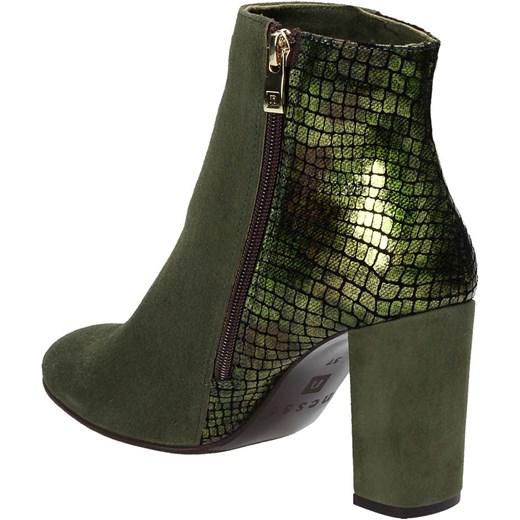 c4f36e85703b1 ... Zielone botki damskie NESSI Nessi szary 38 Wojtowicz Awangarda Shoes ...