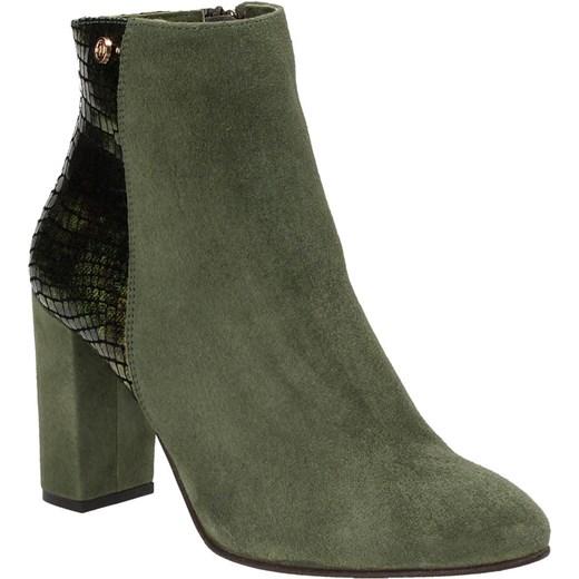 8da5638a6a6d2 ... Zielone botki damskie NESSI szary Nessi 38 Wojtowicz Awangarda Shoes