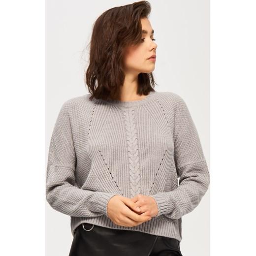 74b0b8c36dbccc Sinsay - Krótki luźny sweter - Szary Sinsay szary XL ...