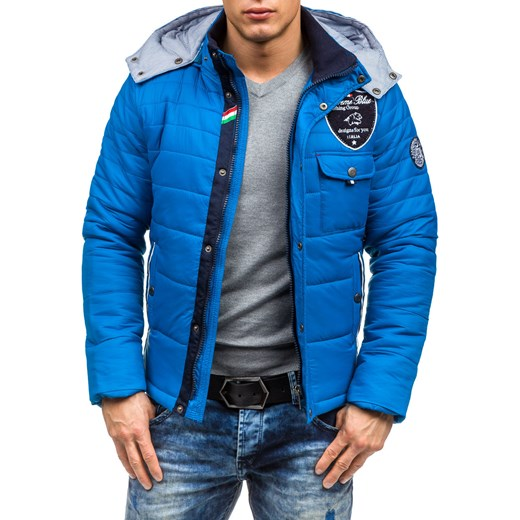 5b6a819e7437c ... Niebieska kurtka męska zimowa Denley 77 Extreme 2XL Denley.pl ...
