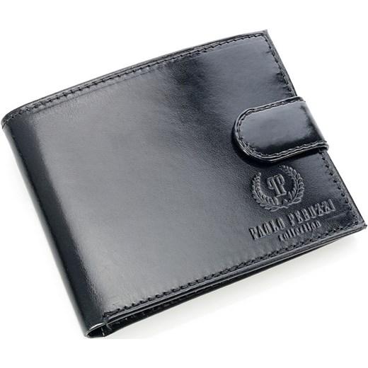 fe2e856914d00 ... PAOLO PERUZZI ekskluzywny skórzany portfel męski w pudełku czarny GA55  skorzana-com szary miejsce na ...