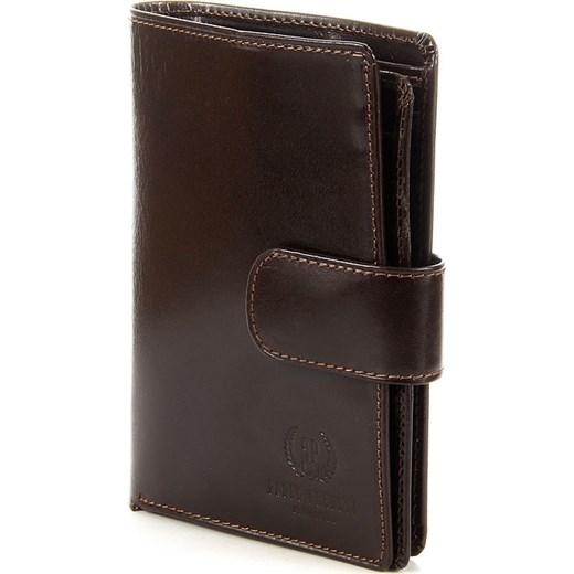 eba2d1475609f PAOLO PERUZZI ekskluzywny skórzany portfel męski organizer w pudełku GA57  brązowy skorzana-com czarny elegancki w Domodi