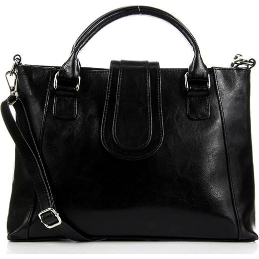 eb67b89743e03 DAN-A T84 czarna torebka skórzana damska aktówka skorzana-com biznesowy