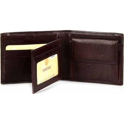 2e15402443346 KRENIG Classic 12027 - brązowy skórzany portfel męski skorzana-com czarny  klasyczny ...