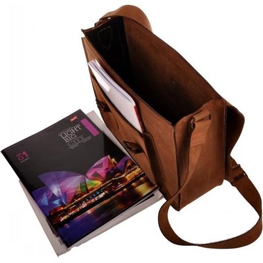 56e2ca3cc25bb MADE IN ITALY Postino 190 brązowa włoska torba skórzana zamszowa  listonoszka unisex Skorzana.com