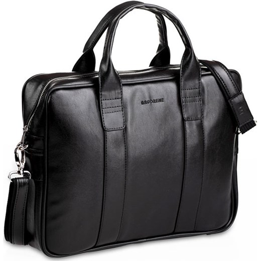 34a12b00d337e BRODRENE B01 czarna torba męska na ramię na lapotop casual szary Brødrene  Skorzana.com ...