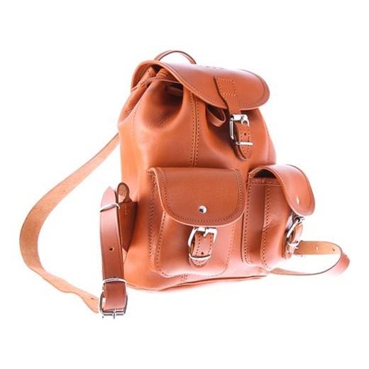 0d1b61f731f73 Mały plecak skórzany Vintage P2 COGNAC VOOC Tanie-Zakupy.com w Domodi