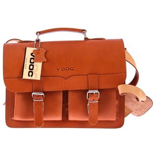 5d42c37ecddd1 ... Klasyczna teczka   plecak Vintage P12 COGNAC VOOC Tanie-Zakupy.com ...