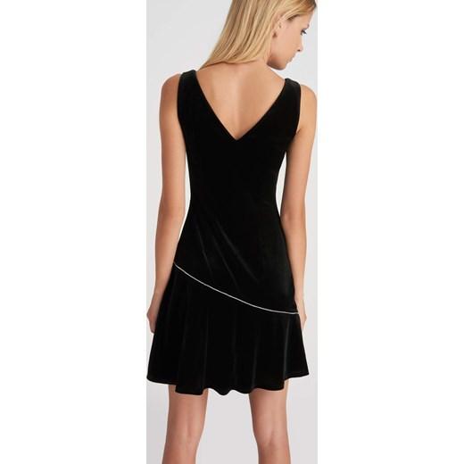 f92fe585ff ... Welurowa sukienka z cyrkoniami czarny ORSAY 40 orsay.com ...