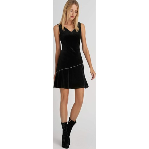 2f1cff2c92 Welurowa sukienka z cyrkoniami czarny ORSAY orsay.com w Domodi