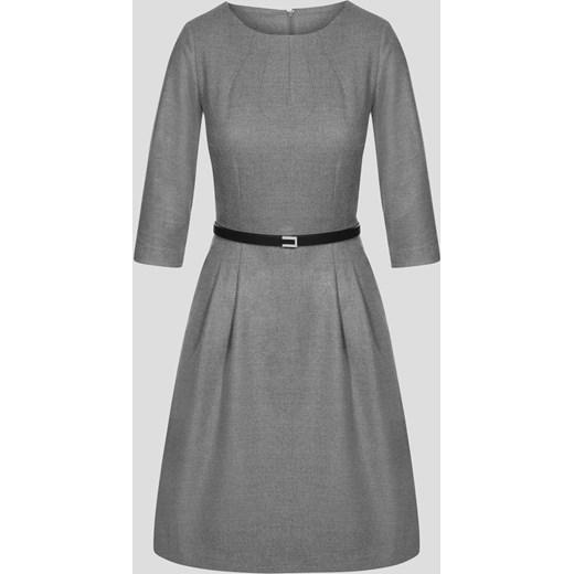 c48c1adb37 Rozkloszowana sukienka z paskiem szary ORSAY 38 orsay.com ...