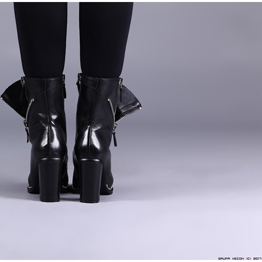 6cfdbaa90d6c42 ... buty made in italy ** premium botki 100% skóra+ srebrne zamki 10cm czarny  39 ...