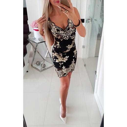 Elegancka Sukienka Z Ote Ozdoby Iwette Butik