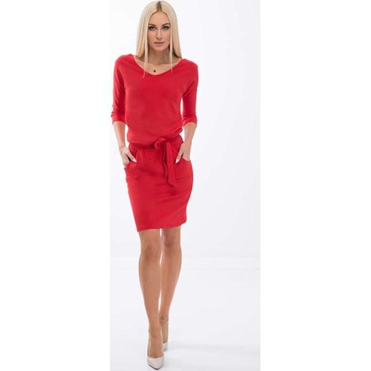 03822e4aad Sukienka Czerwona 9729 fasardi fasardi.com w Domodi