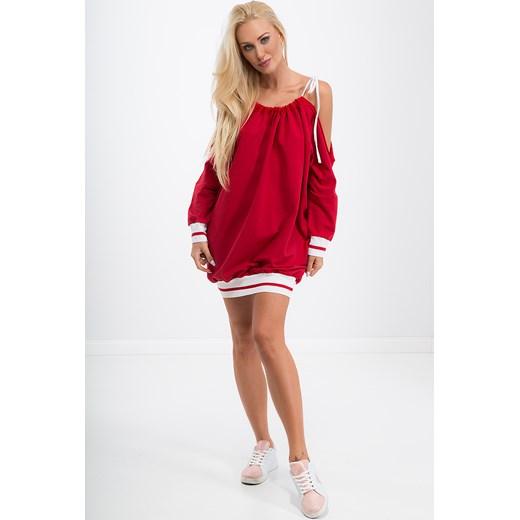 dcf2e3b1ed ... Czerwona sukienka sportowa oversize 1312 fasardi uniw fasardi.com ...