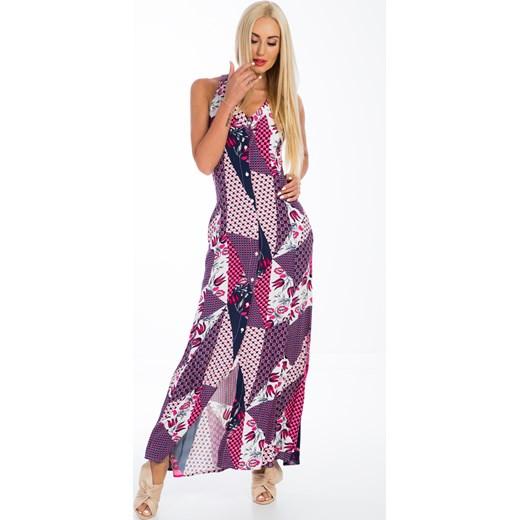 567df1737b ... Wzorzysta sukienka maxi 20430 fasardi M wyprzedaż fasardi.com ...