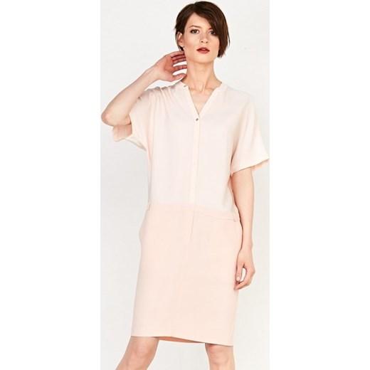 3d6f061d68 Suknia szmizjerka bezowy Patrizia Aryton M okazyjna cena showroom.pl