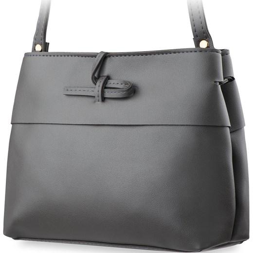 b29a64aa19735 Mała klasyczna torebka damska listonoszka – czarny szary world-style ...
