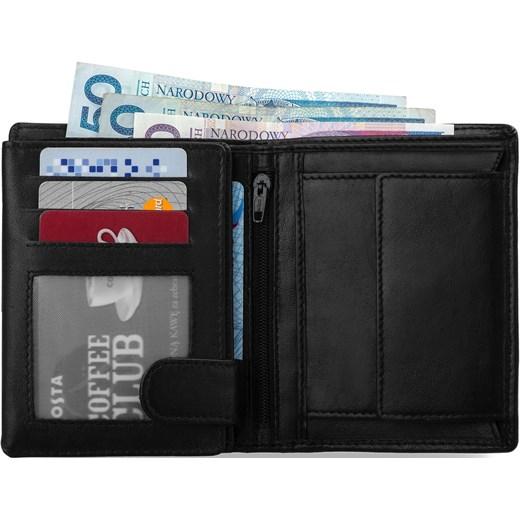 e7a4ff3b32ebc ... Skórzany portfel męski always wild pionowy – czarny z niebieskim Always  Wild szary world-style ...