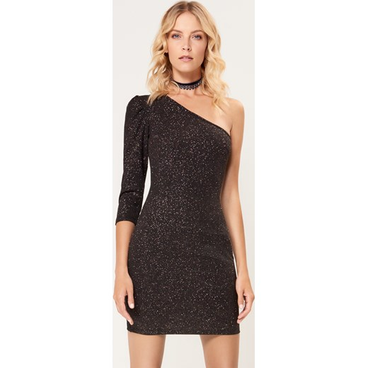 6d3821d8de Mohito - Brokatowa sukienka na jedno ramię - Czarny Mohito M ...