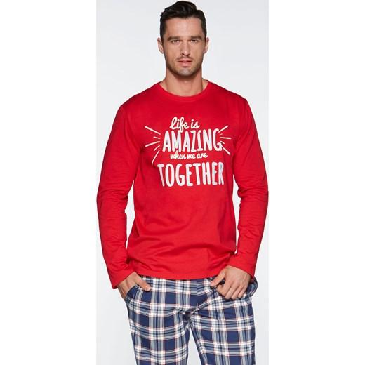 359d4f2e24624f Bawełniiana piżama męska Fabio 41/5-26P 14A700 pomaranczowy bodyciao w  Domodi