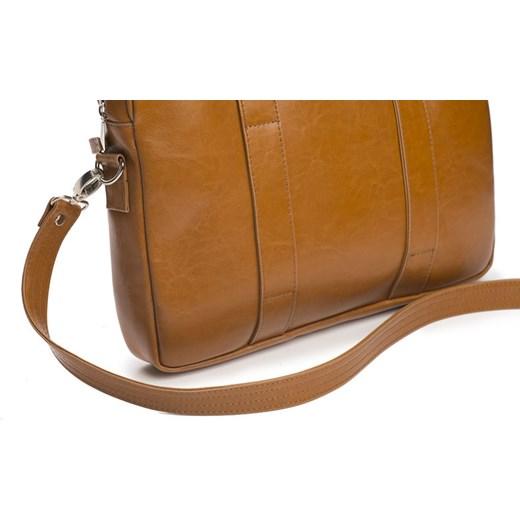 e336c9a356a27 ... Skórzana męska torba na laptopa Camel Solier William Solier One Size  merg.pl ...